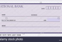 Bank Cheque Stock Photos  Bank Cheque Stock Images  Alamy within Large Blank Cheque Template