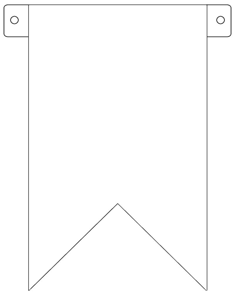 Banner Flag Template  Free To Use  Crafts Etc  Diy Birthday With Regard To Banner Cut Out Template