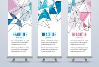 Banner Stand Design Template With Abstract Vector Image with regard to Banner Stand Design Templates