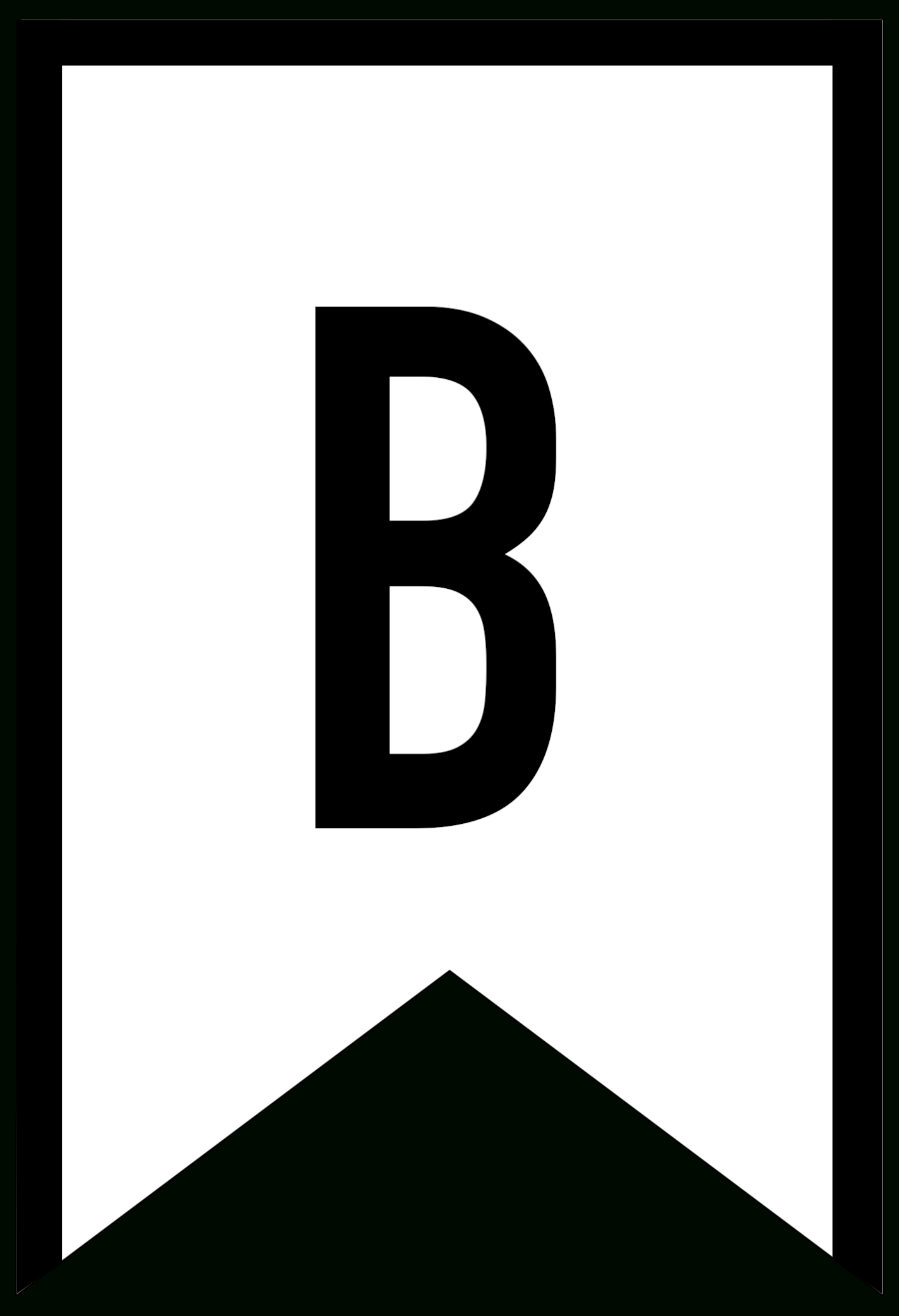 Banner Templates Free Printable Abc Letters  Paper Trail Design Within Letter Templates For Banners