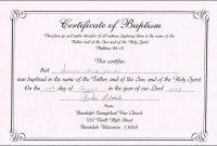 Baptism Certificate Template Free Unique Baptism Certificate for Baptism Certificate Template Word