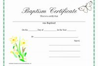 Baptism Certificate Template Ideas Awesome Of Catholic Christian in Roman Catholic Baptism Certificate Template