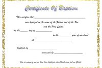 Baptism Certificate Template Ideas Awesome Of Catholic Christian pertaining to Christian Baptism Certificate Template