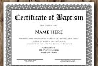 Baptism Certificate Template Microsoft Word Editable  Etsy with Baptism Certificate Template Word