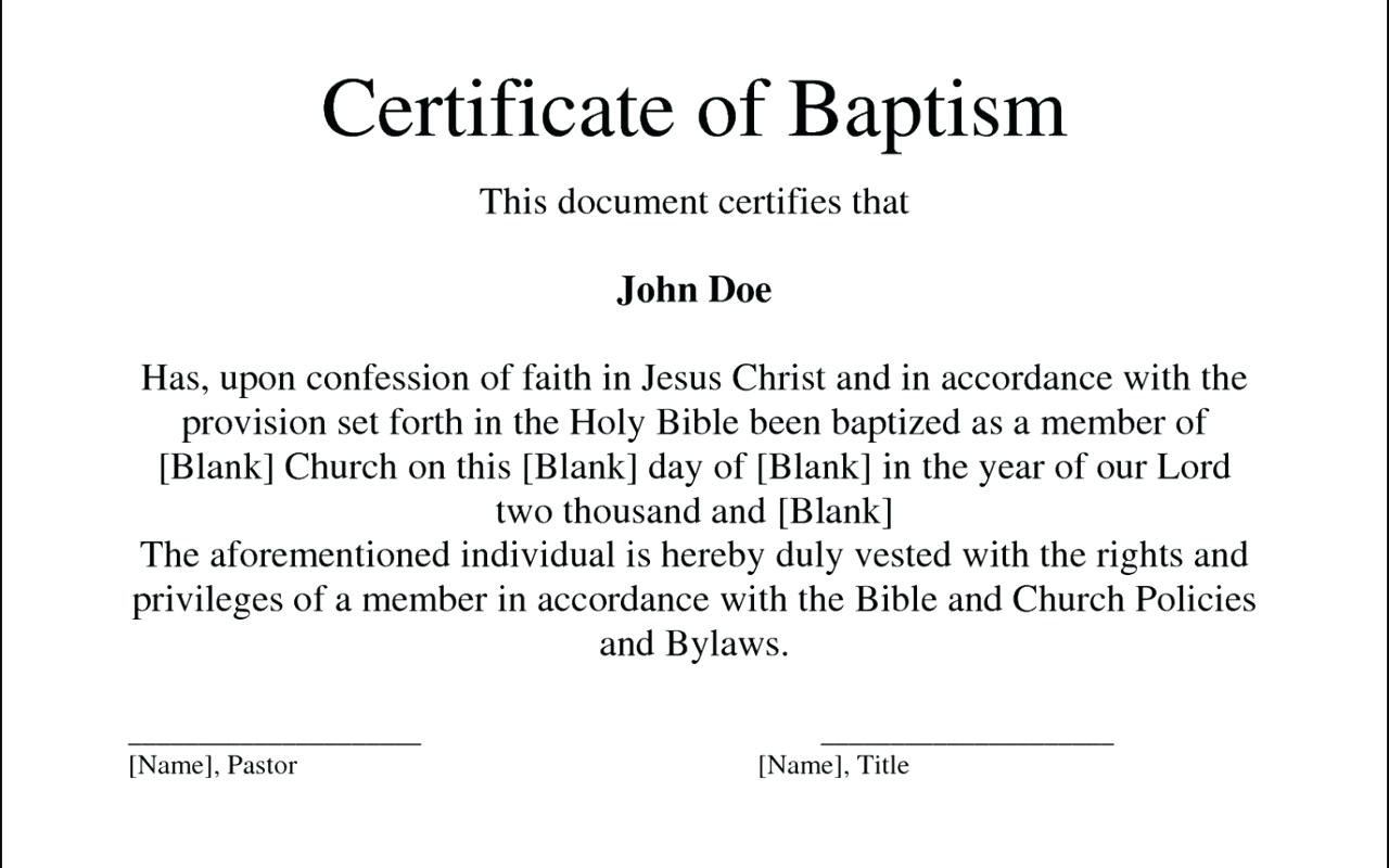 Baptism Certificate Template  Tubidportal Throughout Christian Baptism Certificate Template