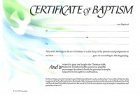 Baptism Certificate Xpeamuz  Sunday School  Certificate Templates within Baptism Certificate Template Download
