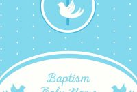 Baptism Invitation Template Royalty Free Vector Image regarding Christening Banner Template Free