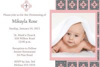 Baptisminvitationcardtemplatefree  My Sister  Baptism Intended For Baptism Invitation Card Template