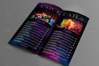 Bar Menu Flyer  Bifold Menu Templatecreativb  Graphicriver regarding Bi Fold Menu Template