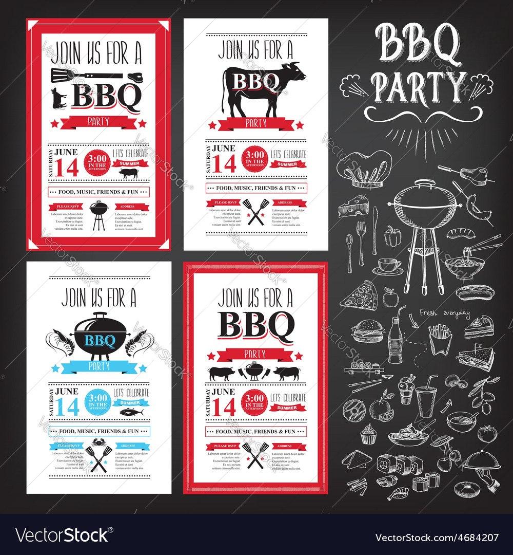 Barbecue Party Invitation Bbq Template Menu Design With Regard To Fun Menu Templates