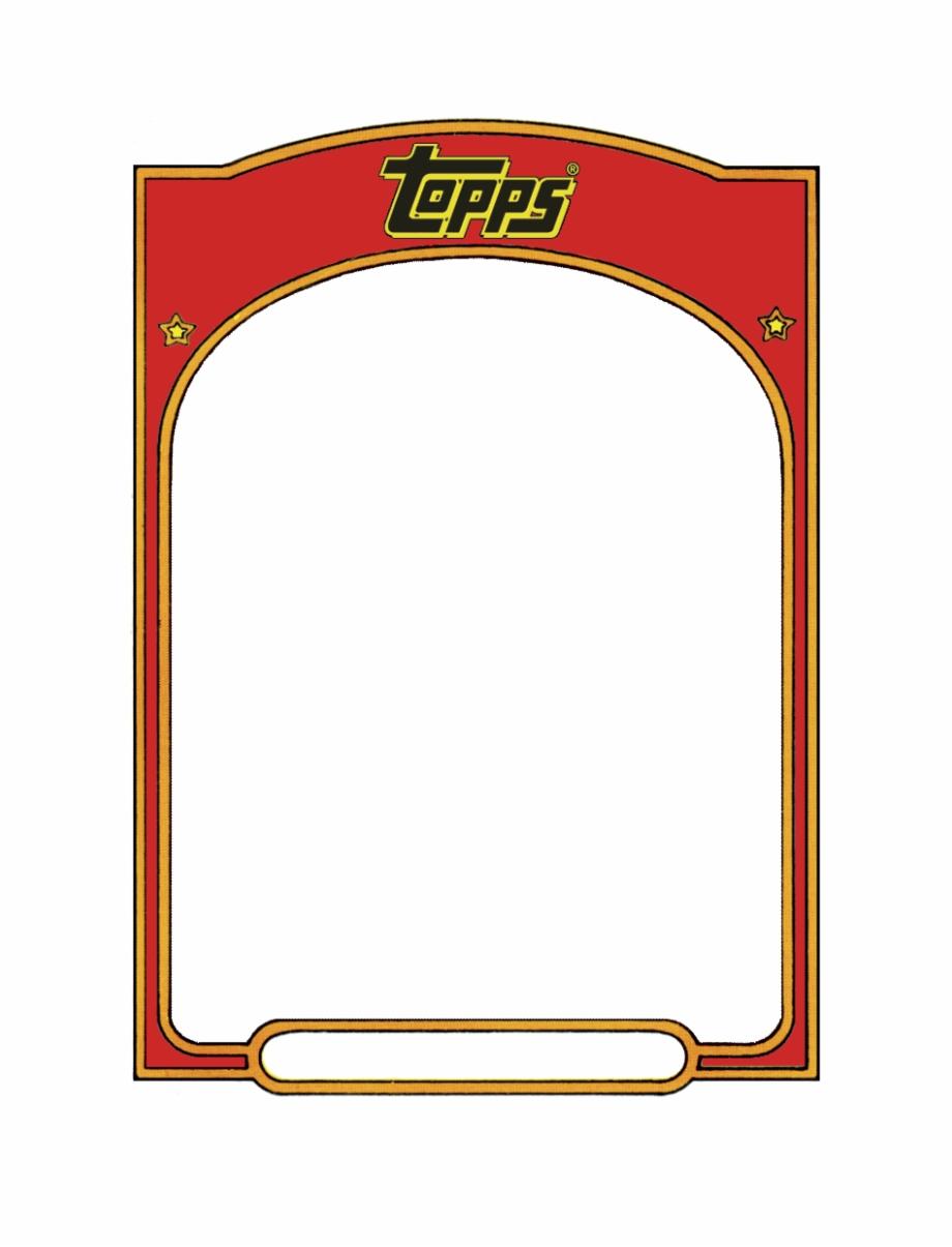 Baseball Card Template Sports Trading Card Templet  Topps Baseball Within Free Sports Card Template