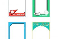 Baseball Card Template – Verypageco regarding Free Trading Card Template Download