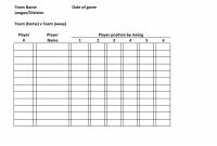 Baseball Lineup Defensive  Baseball Roster Template Team Name Date for Softball Lineup Card Template