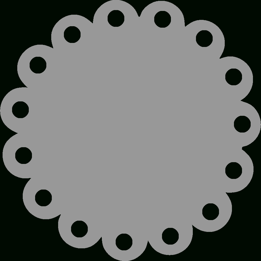 Basic Templates  Scalloped Circle  Silhouette Projects  Circle Regarding Template For Circle Labels