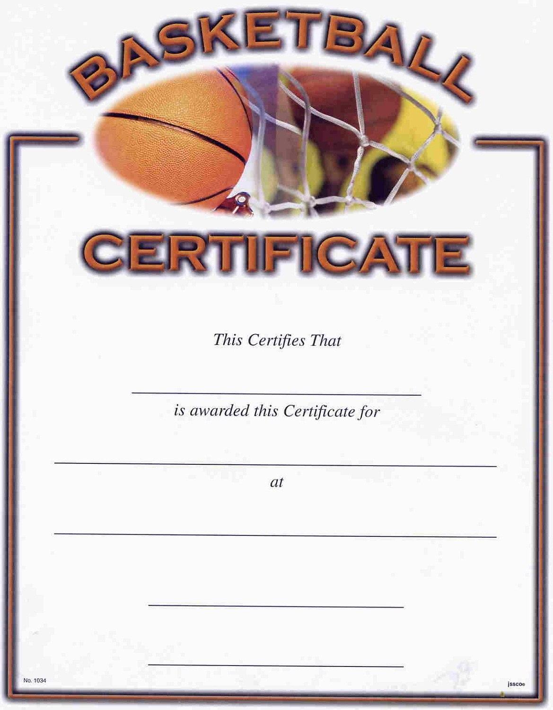 Basketball Award Certificate To Print  Activity Shelter Regarding Basketball Camp Certificate Template