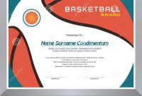 Basketball Award Diploma Template Design Stock Vector in Basketball Certificate Template