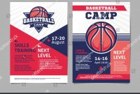 Basketball Camp Flyer Template Stock Vector Posters With Ball in Basketball Camp Brochure Template