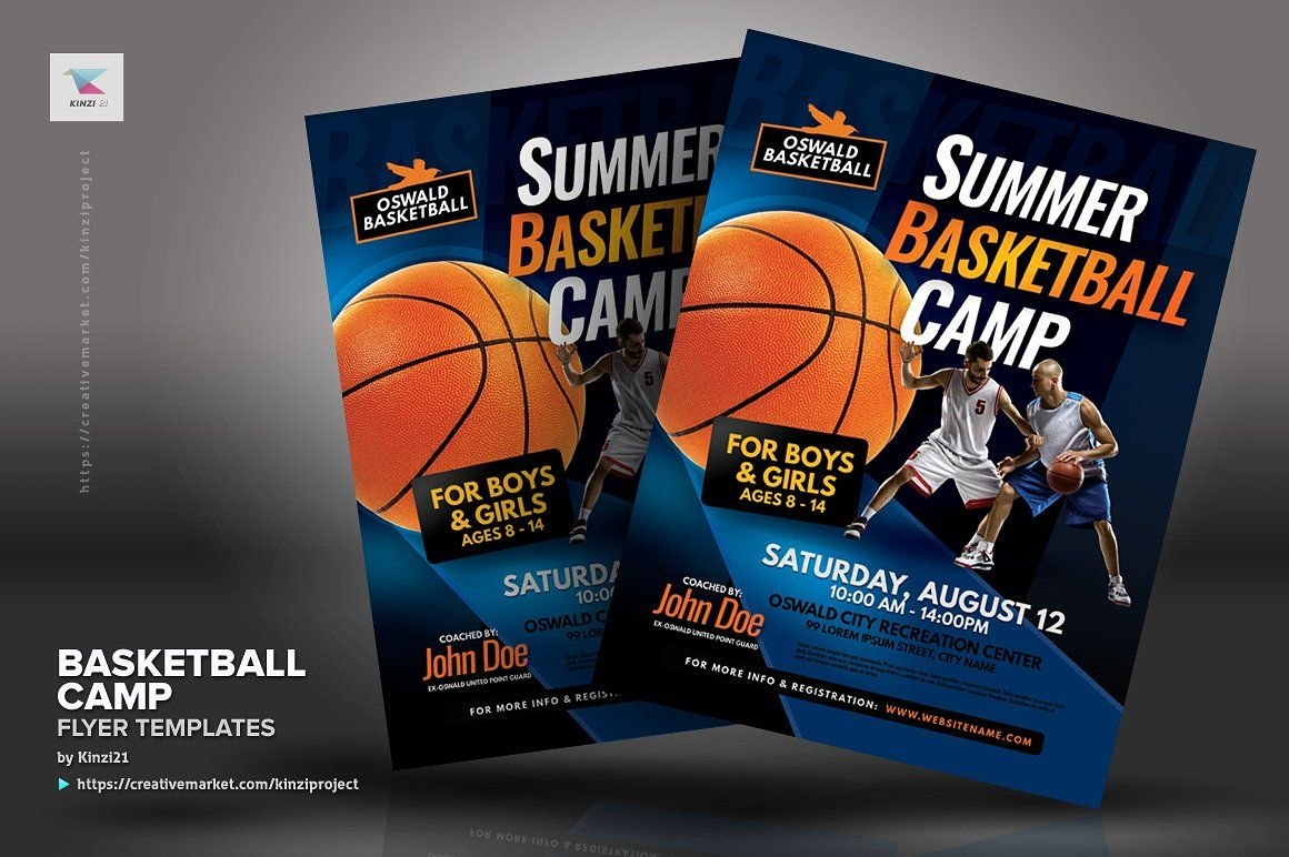 Basketball Camp Flyer Templates Inchesletterplacingschemes With Basketball Camp Brochure Template