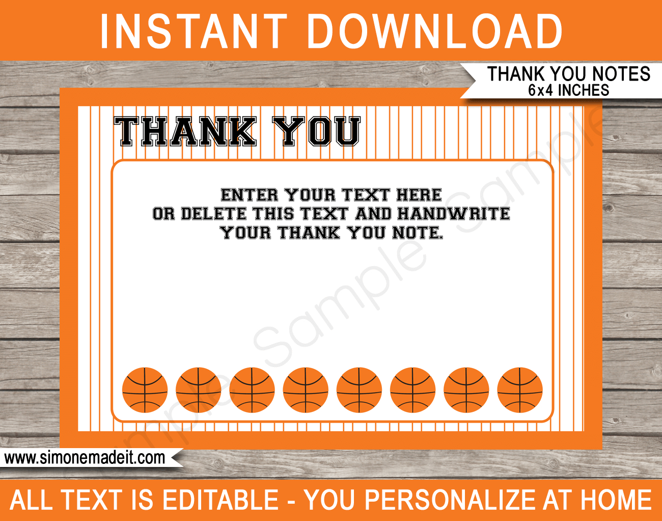 Basketball Party Thank You Cards Template For Soccer Thank You Card Template