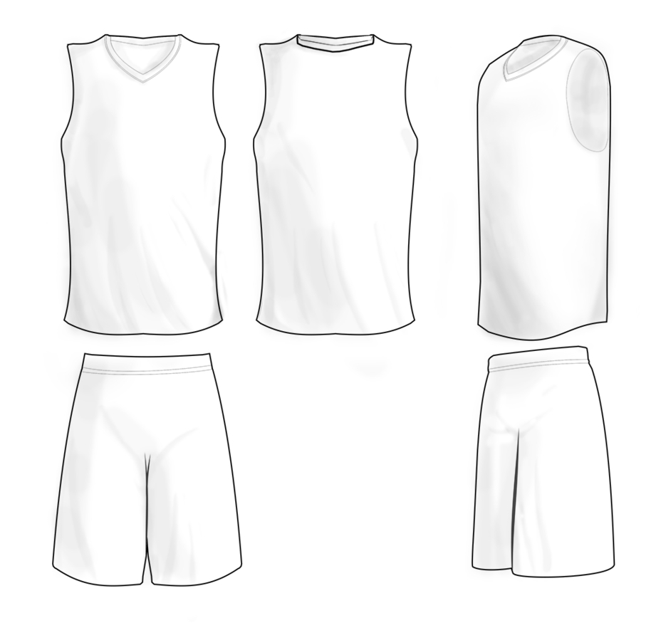 Basketball Uniform Template The Blueprints Com Vector Drawing Throughout Blank Basketball Uniform Template