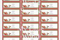 Beautiful Christmas Address Labels Free Templates  Best Of Template within Christmas Address Labels Template