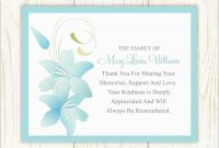 Beautiful Free Funeral Thank You Cards Templates  Best Of Template within Sympathy Thank You Card Template