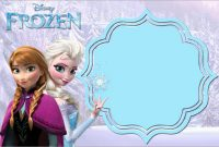 Beautiful Free Printable Frozen Invitations Templates  Best Of Template regarding Frozen Birthday Card Template