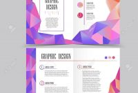 Beautiful Halffold Brochure Template Design With Crystal Elements for Half Page Brochure Template