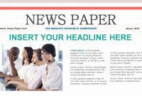 Beautiful Newspaper Template For Kids  Wwwpantrymagic throughout Newspaper Template For Powerpoint