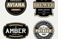 Beer Label Graphics Designs  Templates From Graphicriver pertaining to Beer Label Template Psd