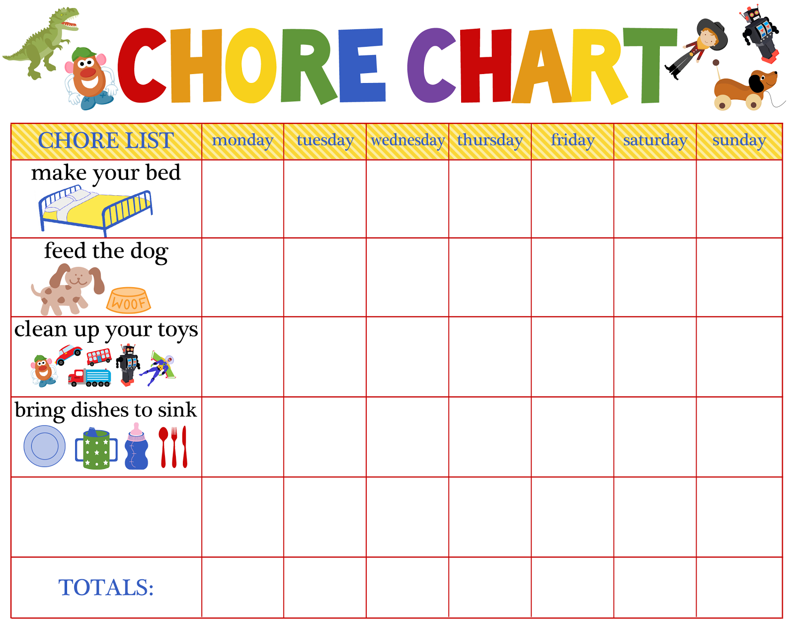 Behaviour Charts For  Year Olds  Kiddo Shelter  Printable Reward For Reward Chart Template Word
