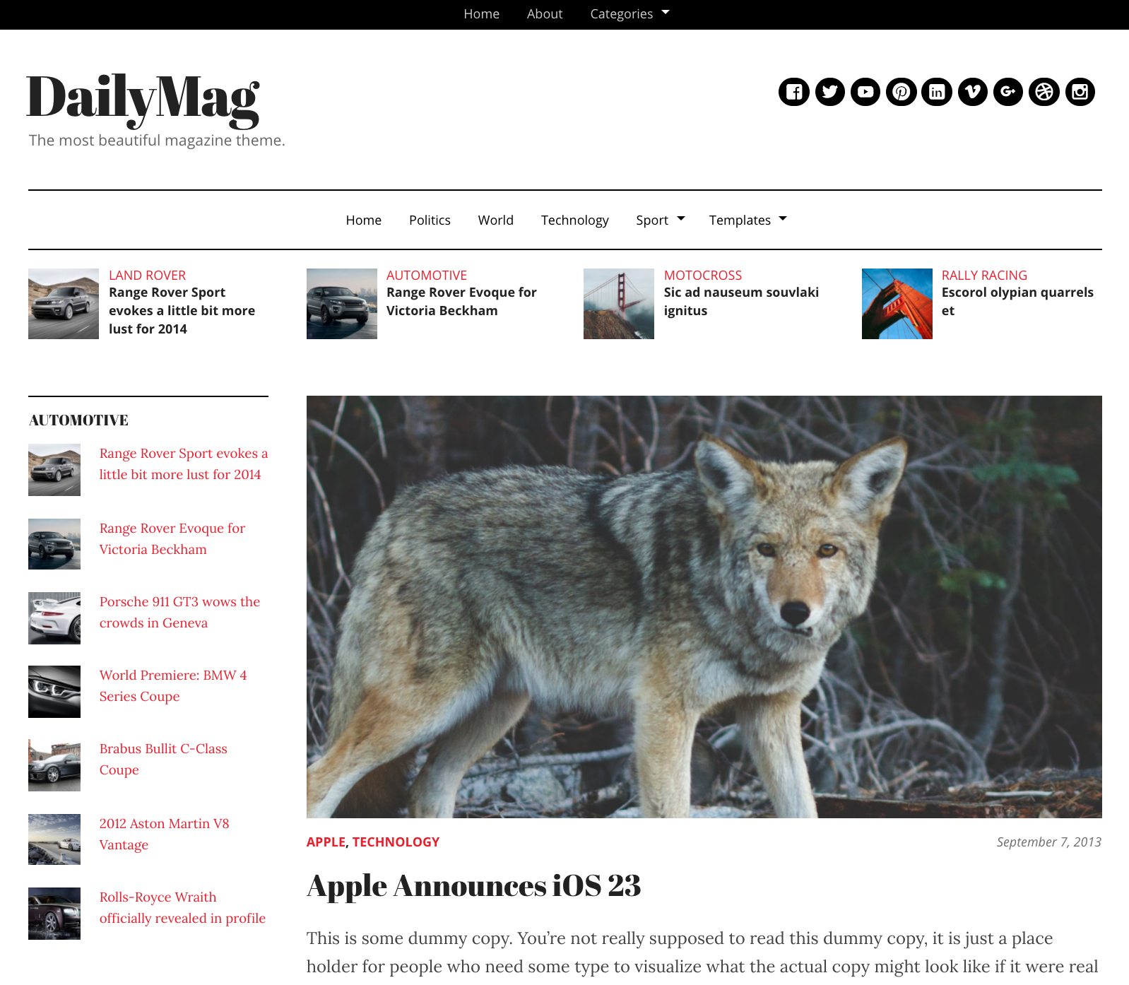 Best Aggregator Themes For WordPress  Wp Mayor For Drudge Report Template