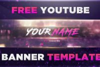 Best Banner Template Psd Photoshop  Free Download   Youtube inside Banner Template For Photoshop