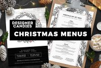 Best Christmas Menu Templates In Psd  Vector  Designercandies intended for Christmas Day Menu Template