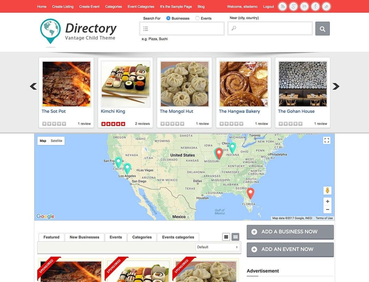 Best Directory WordPress Themes   Athemes Regarding WordPress Business Directory Template