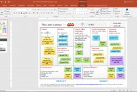Best Editable Business Canvas Templates For Powerpoint inside Lean Canvas Word Template