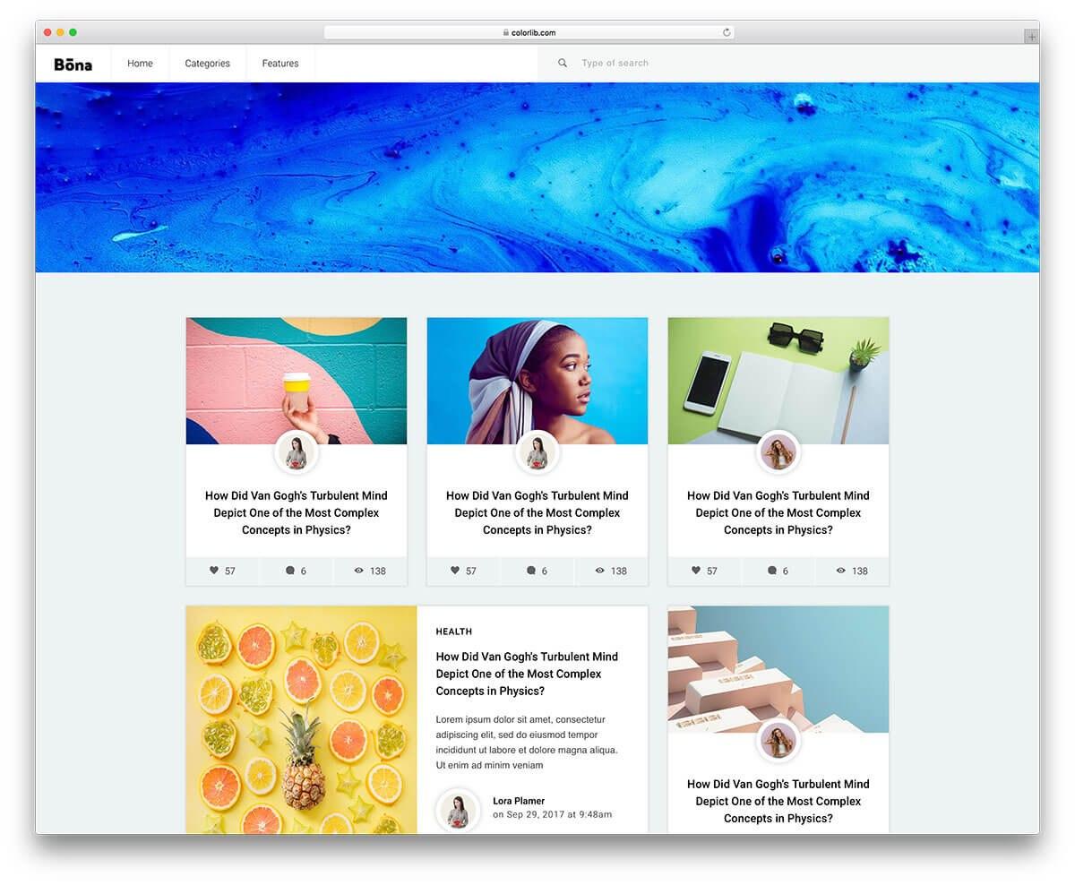 Best Free Blog Templates For Inspiring Blogs   Colorlib Intended For Free Blogger Templates For Business