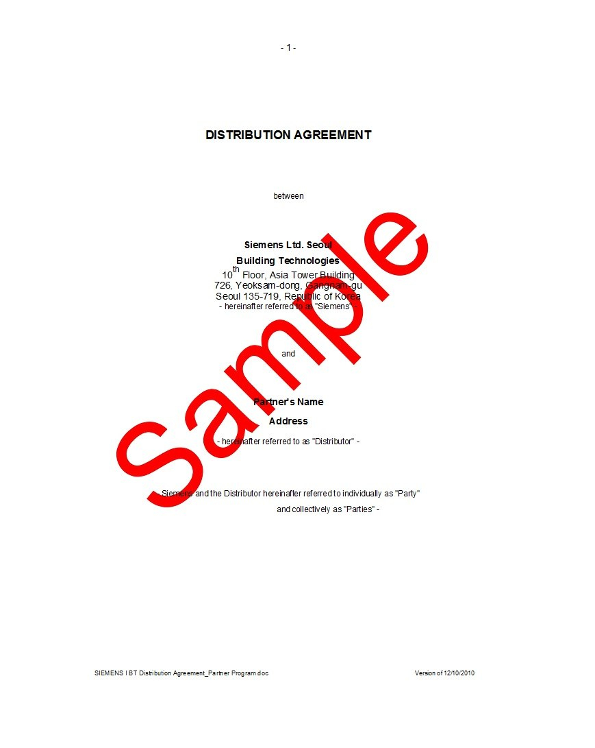 Best Free Distribution Agreement Templates ᐅ Template Lab With Regard To Exclusive Distribution Agreement Template Free