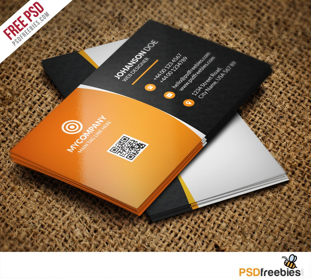 Best Free Modern Business Card Psd Templates  Webrecital Regarding Photoshop Name Card Template
