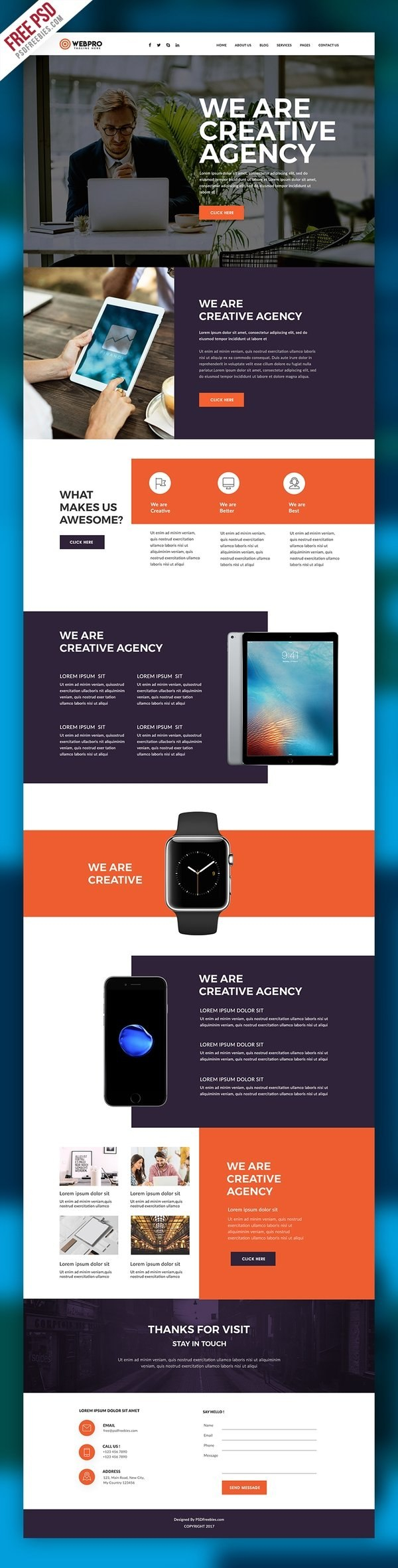 Best Free Psd Website Templates  For Business  Themesity Inside Free Psd Website Templates For Business