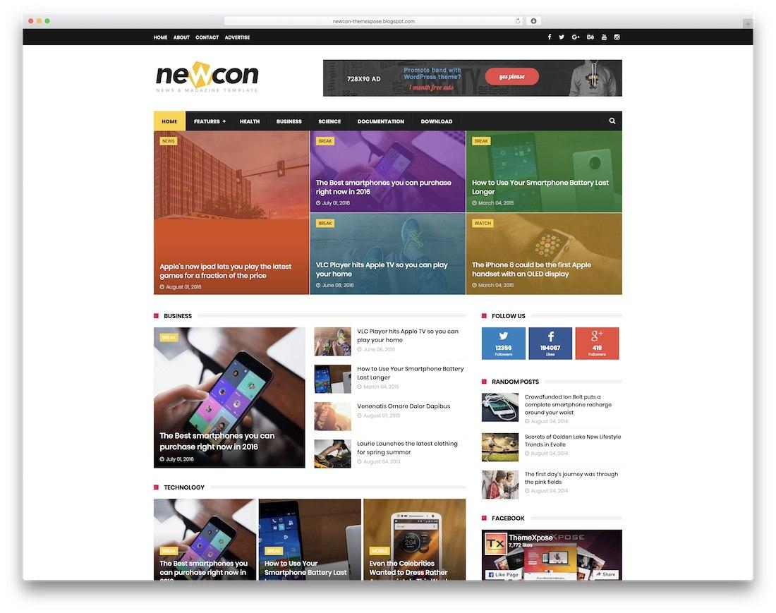 Best Free Responsive Blogger Templates   Colorlib Inside Free Blogger Templates For Business