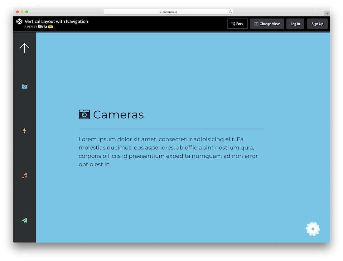 Best Free Website Menu Templates For Modern Creative Sites With Html Vertical Menu Bar Template