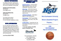 Best Images Of Camp Brochure Template  Basketball Camp Brochure for Basketball Camp Brochure Template