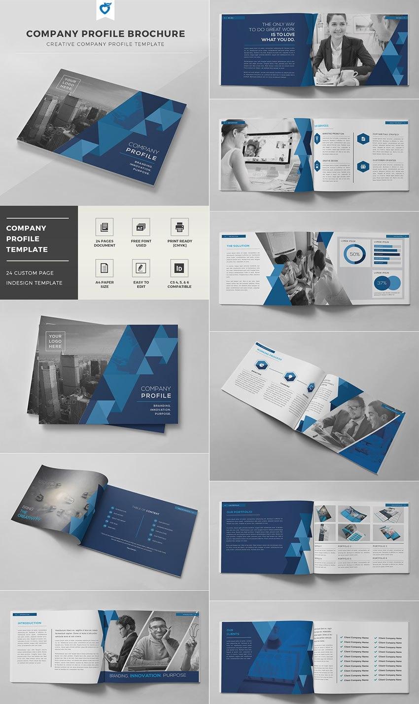 Best Indesign Brochure Templates  Creative Business Marketing In Good Brochure Templates