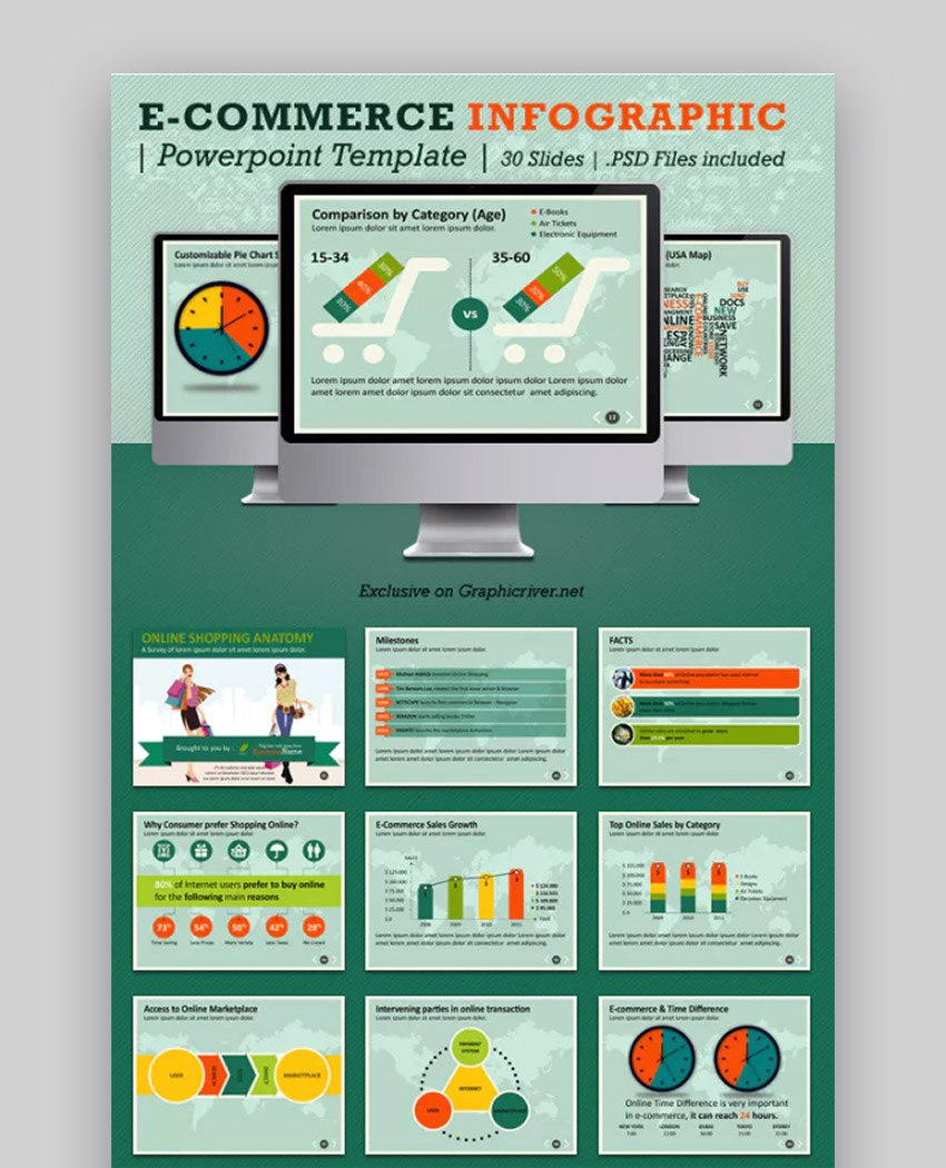Best Infographic Powerpoint Presentation Templates—With Great Ppt Regarding Sales Report Template Powerpoint