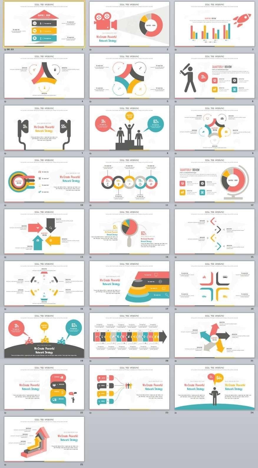Best Infographic Presentation Powerpoint Template  Powerpoint In Powerpoint Calendar Template 2015