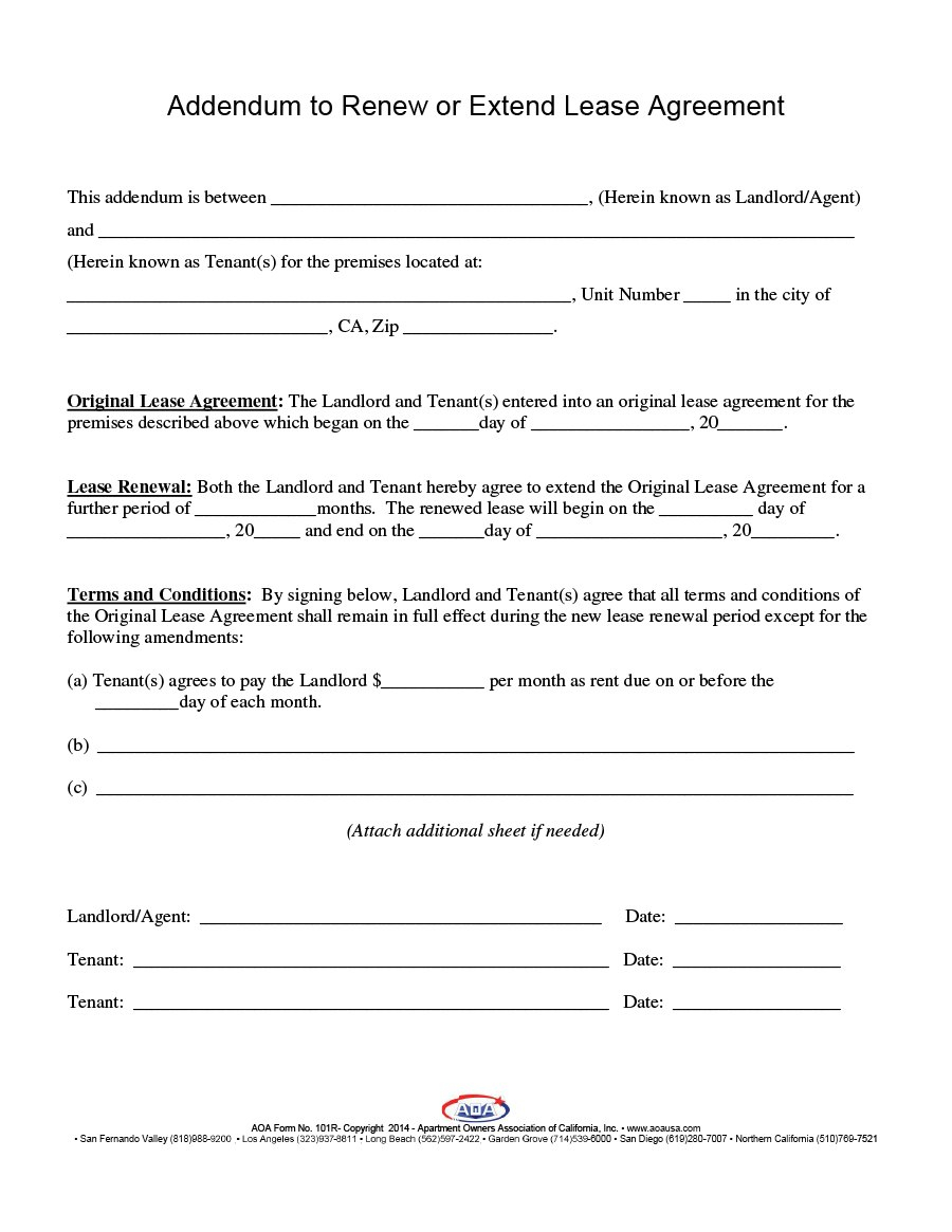 Best Lease Renewal Letters  Forms Word  Pdf ᐅ Template Lab With Regard To Renewal Of Tenancy Agreement Template