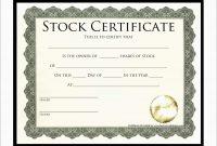 Best Of Corporate Stock Certificates Template Free  Best Of Template inside Corporate Share Certificate Template