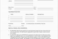 Best Of Equipment Rental Contract Template Free  Best Of Template within Music Equipment Rental Agreement Template
