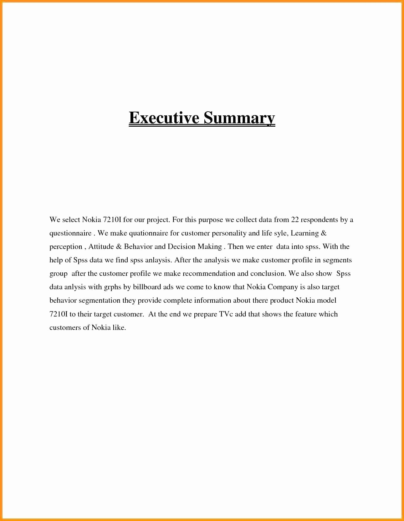 Best Of Executive Summary Report Example  Amarieartja Inside Training Summary Report Template